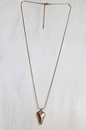Antique Gold Heart Necklace