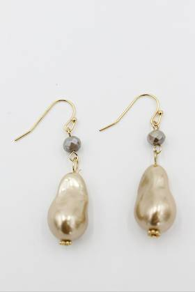 Nugget Bronze Pearl Earring