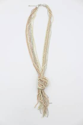 Oyster Pink Knot Necklace