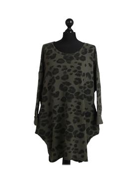 Jungle  Cotton Sweater Khaki