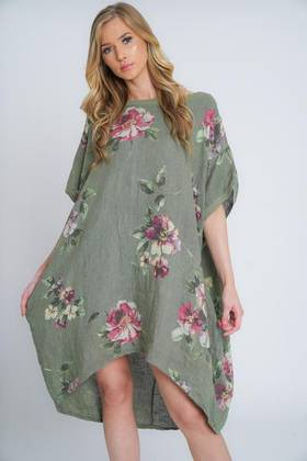 Adeline Linen Top/Dress Khaki