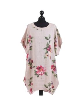 Adeline Linen Top/Dress Peach