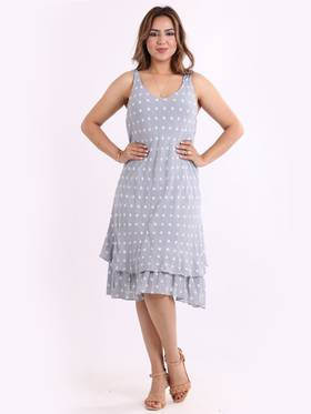 Marley Spotted Dress Grey
