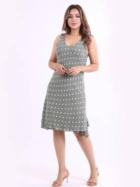 Marley Spotted Dress Khaki