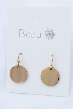 Platter Stainless Steel Earrings Rose Gold