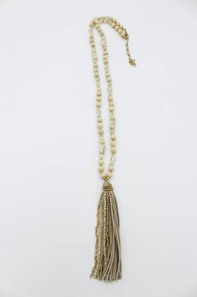Cashew Tassel Necklace