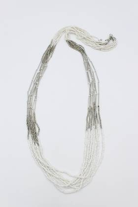 Dover White Necklace