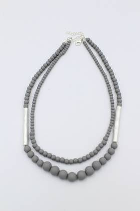 Biscotti Grey Necklace