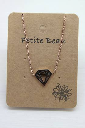 Petite Beau Stainless Steel Pyramid Necklace