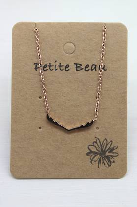 Petite Beau Stainless Steel Reindeer Necklace