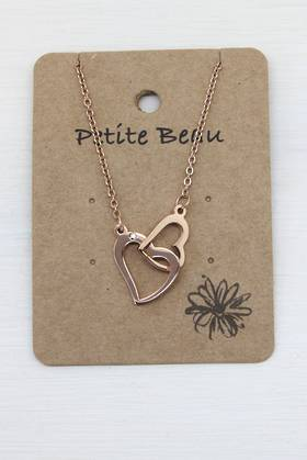 Petite Beau Stainless Steel Love Locked Necklace