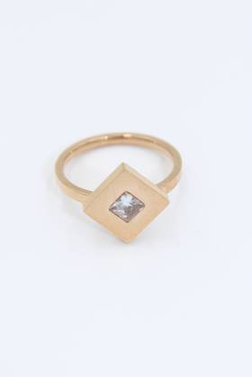 Diamond Cube Stainless Steel Ring