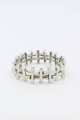 Criss Cross Silver Bracelet