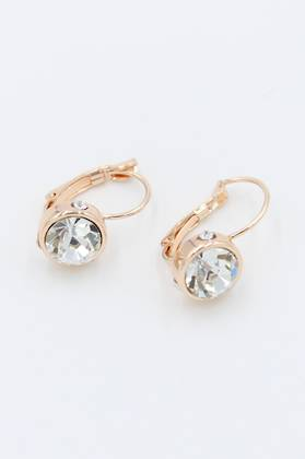 French Clip Diamond Earrings - Rose Gold