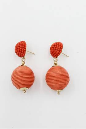 Orange Bauble Earrings
