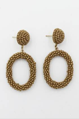 Taupe Loop Earrings