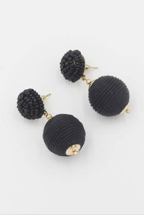 Black Bauble Earrings