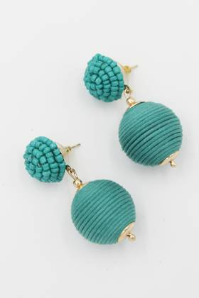 Aqua Bauble Earrings