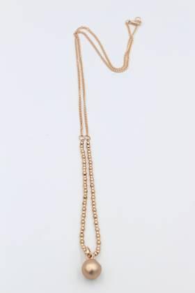 Saturn Rose Gold Necklace