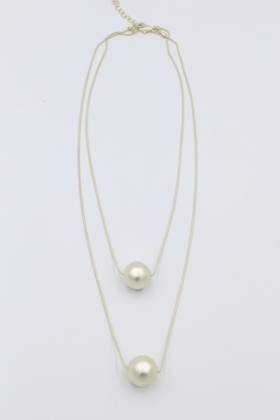 Twin Orb Gold Necklace