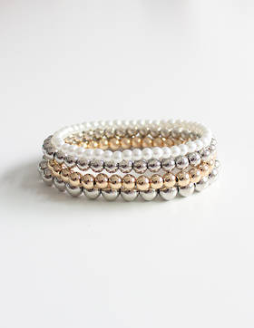 Shimmery Bracelet Set