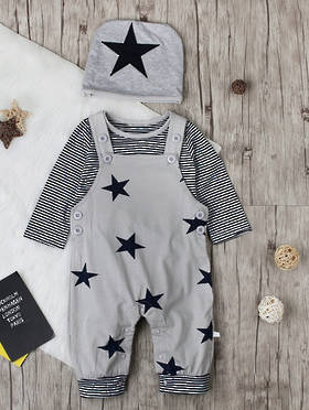 Rocco Baby Boy Star Set Grey