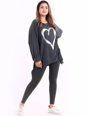 Romance Plus Size Sweater Charcoal