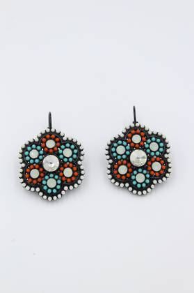 Moroccan Calico Earrings