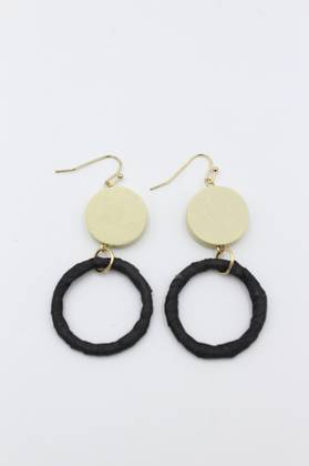 Blackeyed Pea Cream Earrings