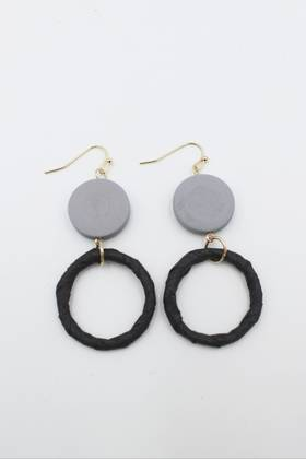 Blackeyed Pea Grey Earrings