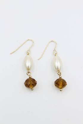 Amber Pearl Earrings