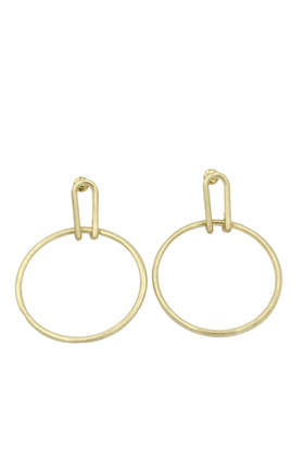 Loophole Gold Earrings