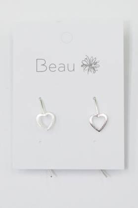 Sterling Silver Heart Drop Earring