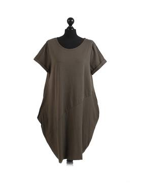 Sasha Cotton Dress Short Sleeve - Khaki