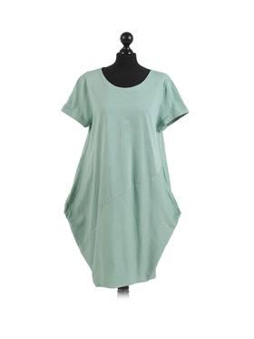 Sasha Cotton Dress Short Sleeve - Spearmint