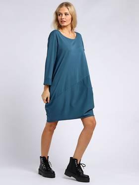 Sasha Cotton Long Sleeved Dress Teal