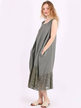 Silvie Lace Long Dress Khaki