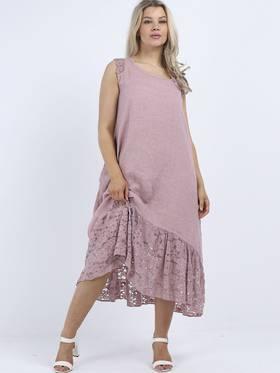 Silvie Lace Long Dress Pale Pink