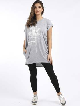Starburst T Shirt Light Grey