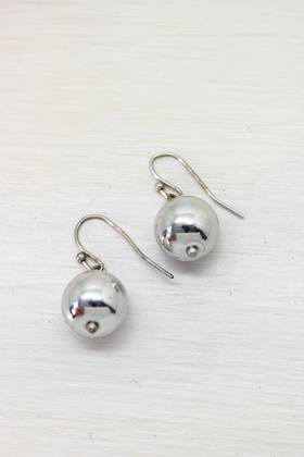 Silver Bauble Earrings