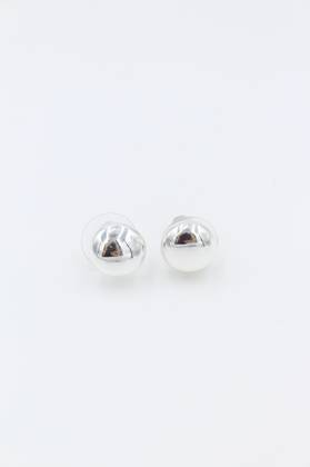 Silver Dome Earrings