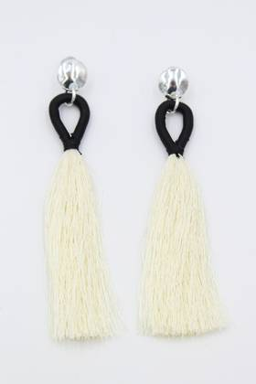 Latte Loop Silver Earrings