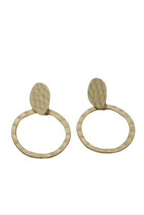 Planet Earth Gold Earrings