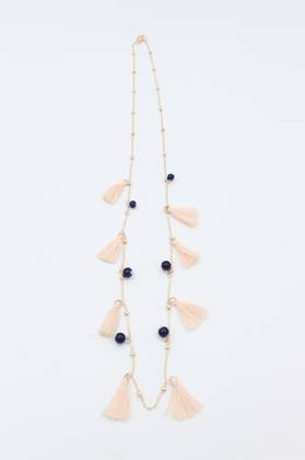 Winter Rose Tassel Necklace