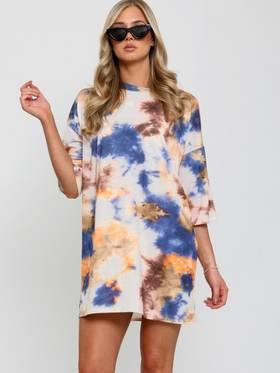 Tie Dyed Boyfriend T-Shirt / Dress Blue 3 Pack (S,M,L)