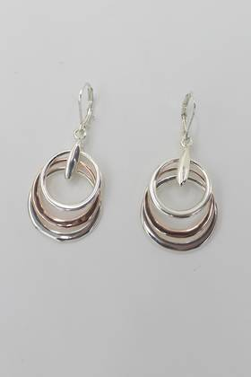 Trinity Loop Earrings Silver