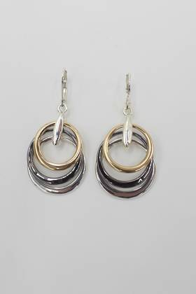 Trinity Loop Earrings Gunmetal
