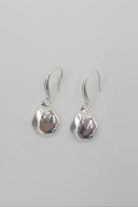 Dimple Drop Earrings Silver