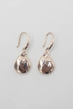 Dimple Drop Earrings Rose Gold