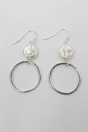 Harper Pearl Earring Silver